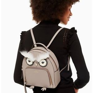 New Kate Spade owl tomi backpack